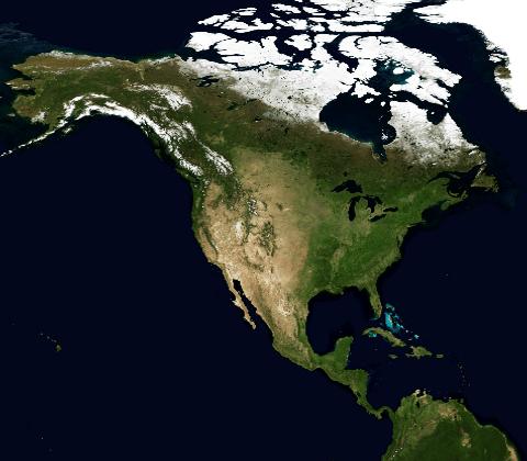 carte Amérique du Nord et Centrale