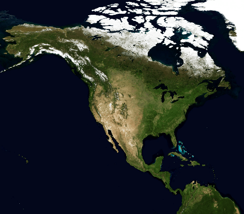 map North and Central America